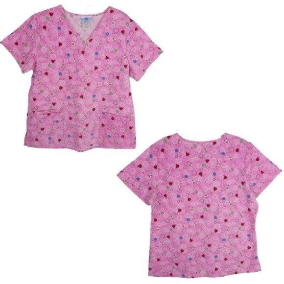 Bundle of 2 Springtime Scrub Tops